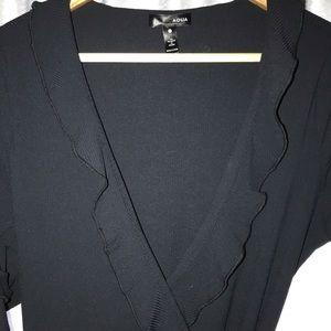 Dresses - Aqua from Bloomingdales black wrap dress